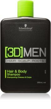 Schwarzkopf Professional [3D] MEN šampon a sprchový gel 2 v 1